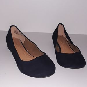 Lane Bryant shoes size 11W Navy Blue LIKE NEW